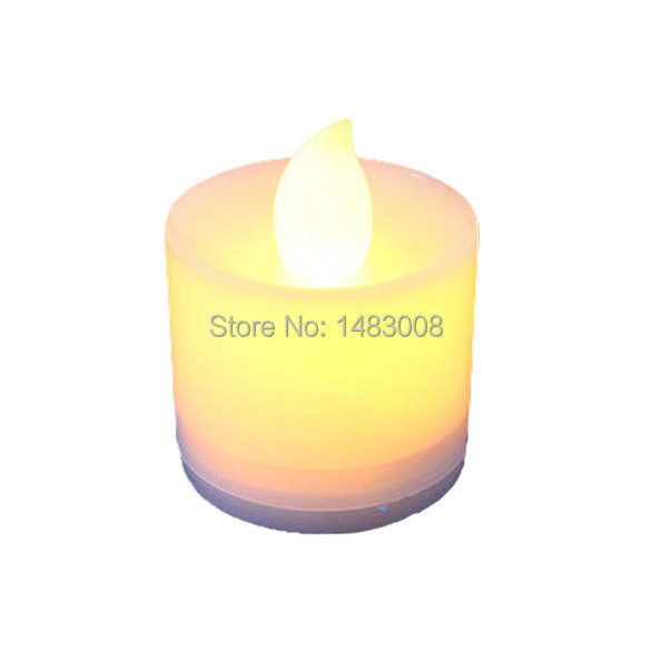 Plastic LED Flash Electronic Flameless Candle Light Lamp For Garden Decoration Dinner Bathroom High Quality(China (Mainland))