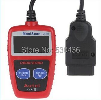 MS 309 Autel MaxiScan MS309 OBDII OBD2 EOBD Car Diagnostic Scanner Code Reader Scan Tool DiagnosticTool(China (Mainland))