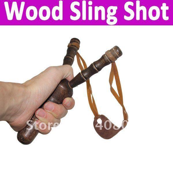 Free shipping 10pcs/lot Slingshot / Sling Shot Handmade Wood  shooting arrow