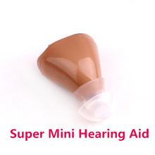 Супер мини помощи слуховые аппараты объем регулируемая звук усилитель голоса устройство низкий уровень шума ухо 3 * Earplug K-82(China (Mainland))