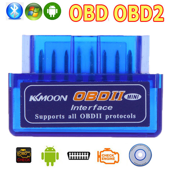 V2.1 OBD2 OBD Bluetooth Interface Auto Car Scanner obdii obd ii Diagnostic Tool works on Android Windows Symbian(China (Mainland))