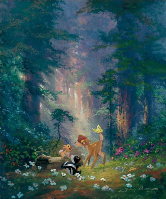 La caricatura ciervos bosque de alta definici n de for Definicion de decoracion