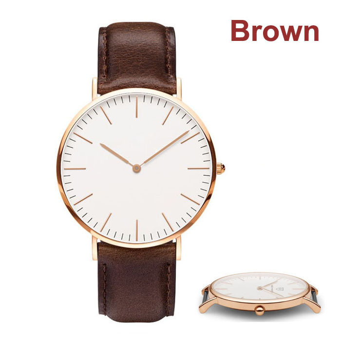 Relojes Women and Men Watches Japan Movement Rose Gold Real Leather Belts Free Shipping(China (Mainland))