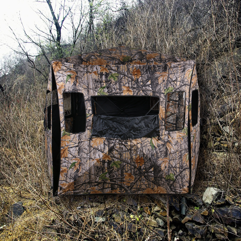 The wild bird photography bionic camouflage 2 persons hidden bunker hunting camouflage tent Free build speed(China (Mainland))