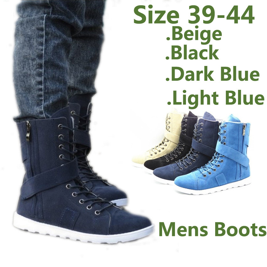 Fashion Casual Mens Lace Ankle Boots Heels 2014 Autumn High-Tops Shoes Online Zip Design - Yiwu Trendz Accessories Co.,LTD store