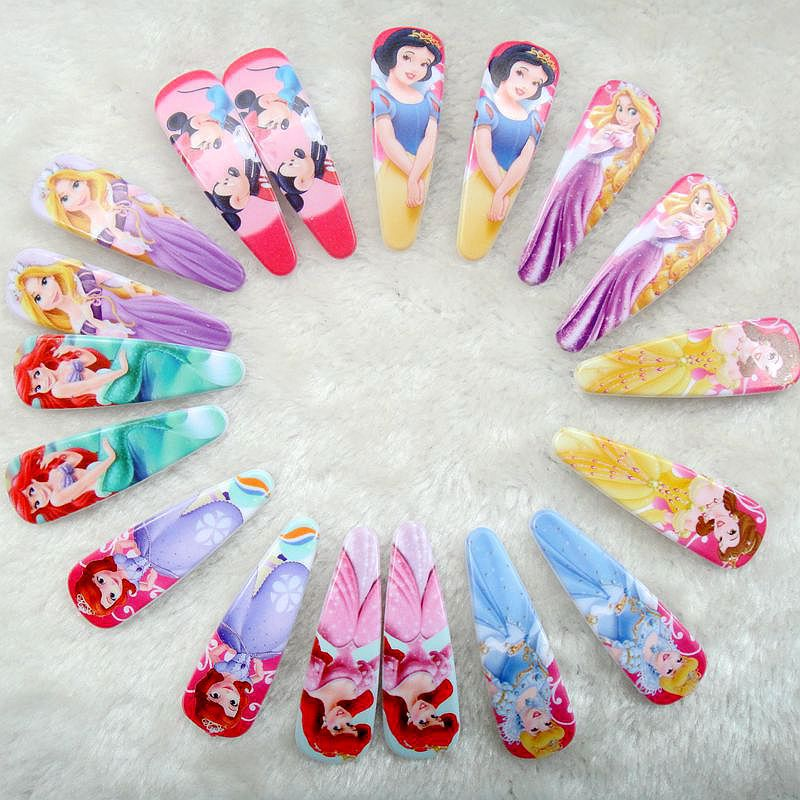 Min order 7$ (can mix order) 4pcs/Lot cartoon rincess Hairpin Hairclips Headwear Baby Girl Hair Accessories Kids Hair Clip(China (Mainland))