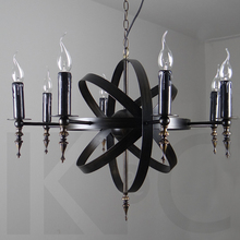 Modern steam punk pendant light lamps personality satellite 8 double