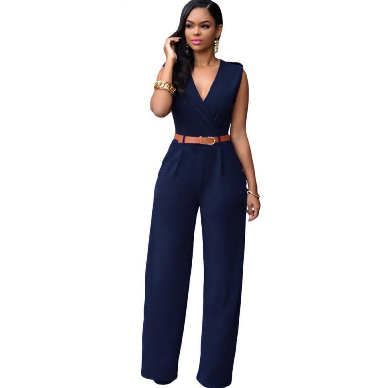 Elegant  NEW Navy Blue Keyhole Sequin Waist Women39s 12 Jumpsuit 99 153