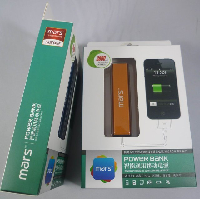 30pcs/Lot  3000 mAh multi Color Mars portable power bank mobile charger battery for various brands mobile and device