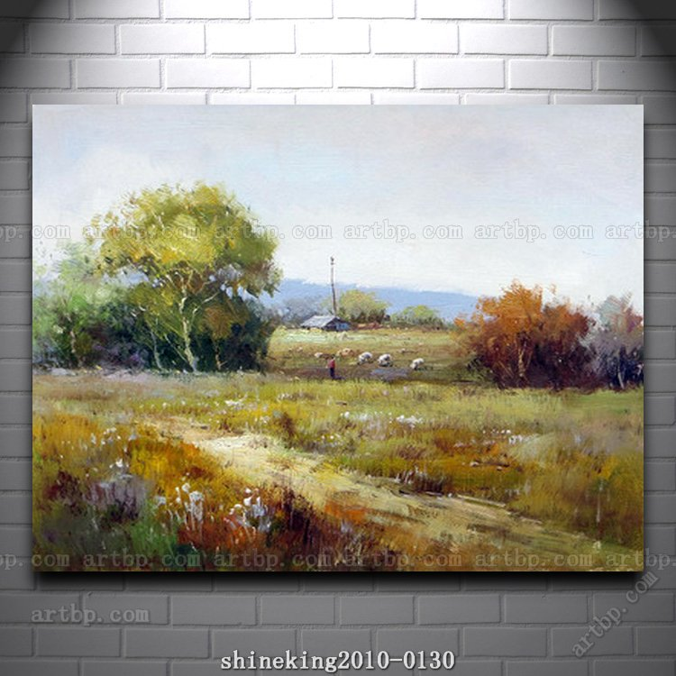 Handpainted Landscape oil painting Impressionist art canvas painting abstract music wall art kitchen decor home decora(China (Mainland))