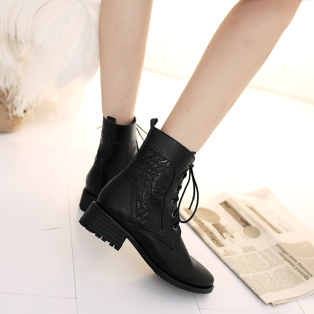 2015 new winter patchwork design cut-outs ankle boots breath comfortable warm leisure wild flat ankle boots size 34-39 R170<br><br>Aliexpress