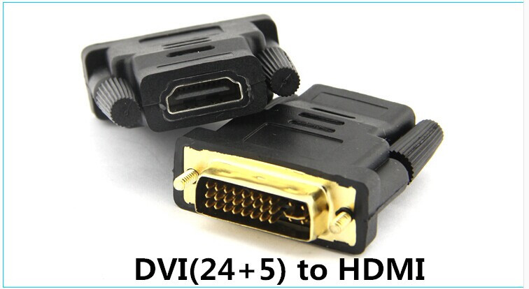 Free shipping Mother HDMI/DVI (24 + 5) male HDMI to DVI adapter connection transformation connector(China (Mainland))