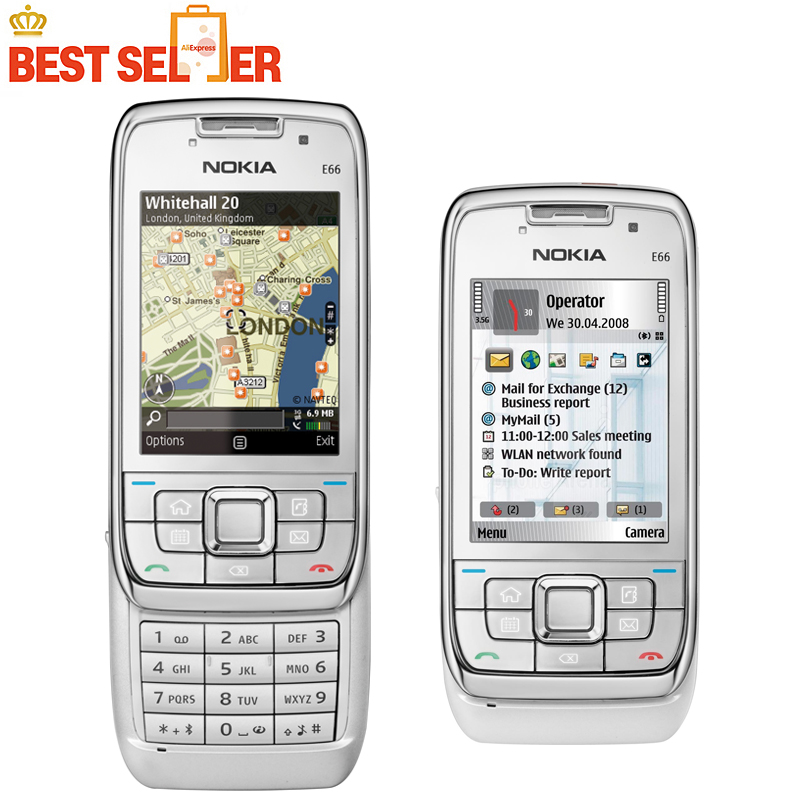 E66 Original Unlocked Phone Nokia E66 GSM WCDMA WIFI Bluetooth 3.15MP Camera Cell Phones(China (Mainland))