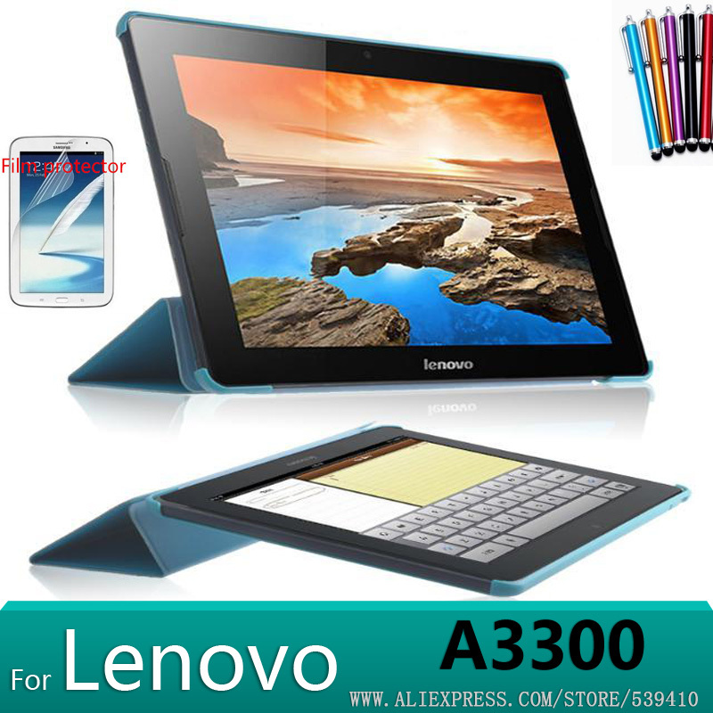 "Здесь можно купить  10ps/lot ultra-thin design Smart Stand leather Case cover For Lenovo A3300 case for LenovoA7-30 7"" Tablet case free ship  Компьютер & сеть"