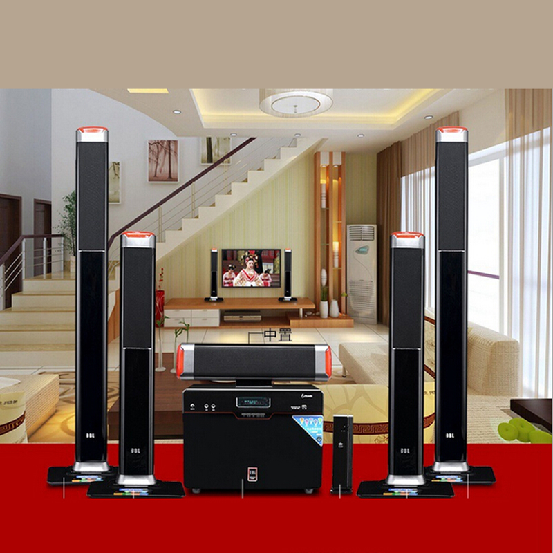 Wireless 5 1 Surround Home Theater Speakers Sound Card Fiber Coax Living Room