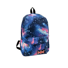 fshion lady Oxford printing backpack Galaxy Stars Universe Space School Book Campus student Backpack British flag bag(China (Mainland))