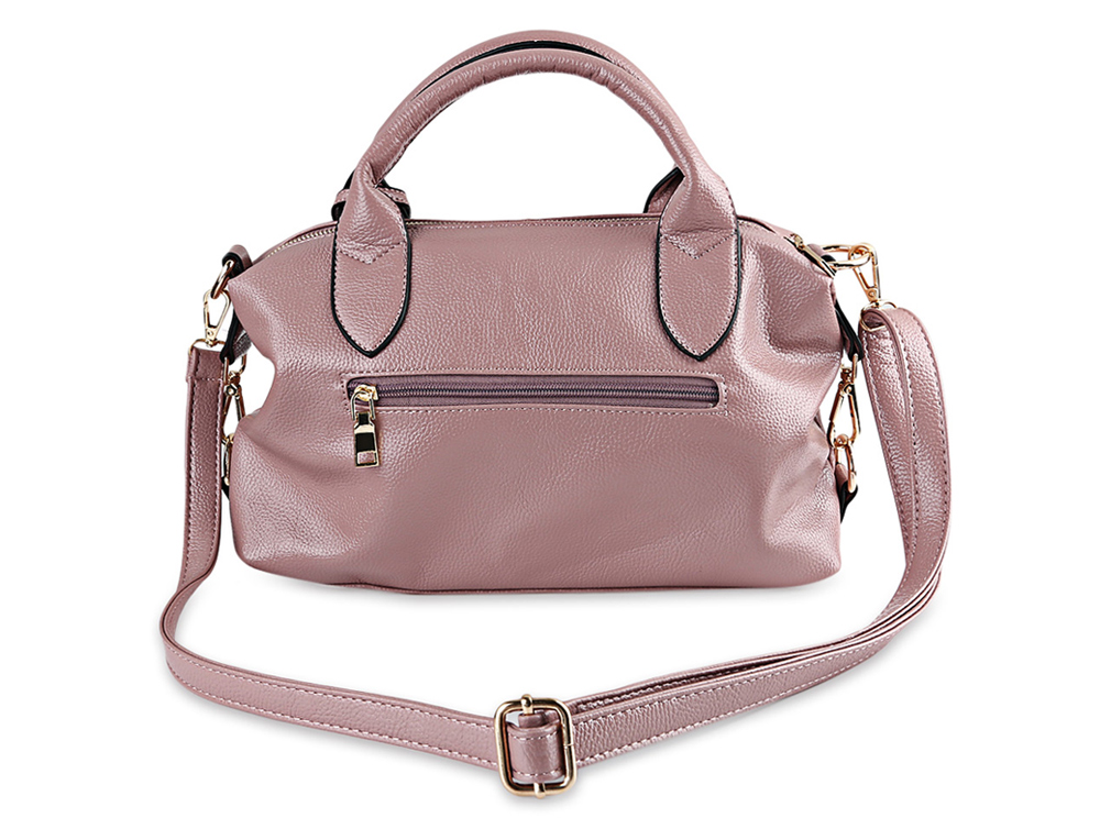 Retro Style Solid Color Handbag Tote Shoulder Messenger Crossbody Bag