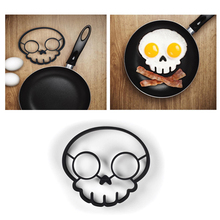 Hot New Gadgets 2015 Funny Side Up Silicone  Skull Fried Egg Mold Kitchen gadget Cooking Tools(China (Mainland))