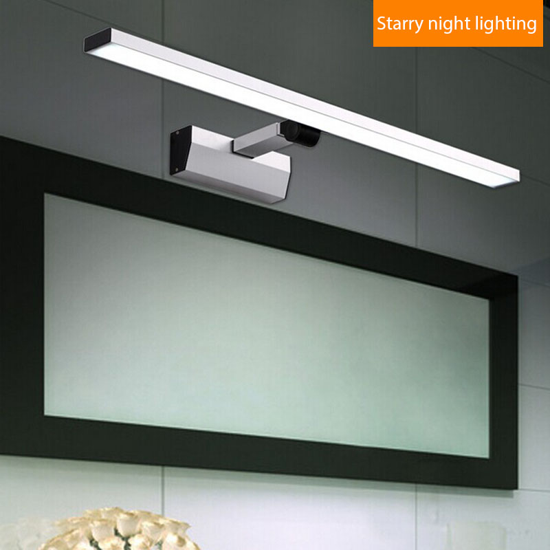 Contemporary led bathroom mirror light stainless steel 90 260v cosmetic mirror lamp ceiling ...
