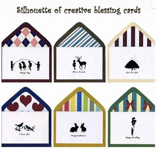 شحن مجاني/بطاقات معايدة خمر أسود أبيض + كرافت ورقة مغلفات/بطاقات معايدة/بطاقات هدية عيد الأم