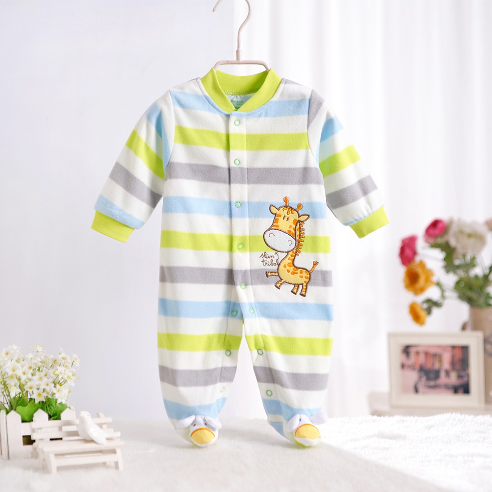 Гаджет  Free Shipping- 2015 spring fleece rompers long-sleeve newborn girl & boy baby clothes with character 0-12M None Детские товары