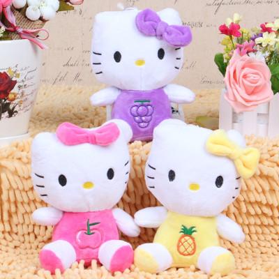 3styles 18cm hello Kitty fruit trumpet free shipping plush toy(China (Mainland))