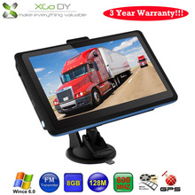 "Xgody 718 7"" Car Truck GPS Navigation 128M/8GB FM SAT NAV Navigator Russian Europe North/South American Maps UK USA Stock(China (Mainland))"