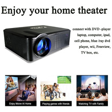 Free shipping Home Theatre Multimedia Projector With 50000hours led lamp USB HDMI AV VGA TV(China (Mainland))