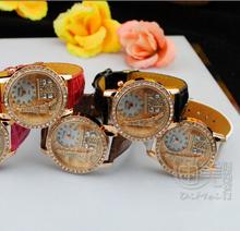 Brand Gogoey Women rhinestone watches Luxury Crystal The Eiffel Tower Watch Women Ladies Fashion Dress Quartz