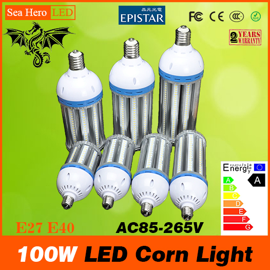 100W led Corn lamp corn light E26 E27 E39 E40 AC85-265V Built-in cooling fan Top quality 5730 Epistar Chip 288pcs Newest Hot(China (Mainland))