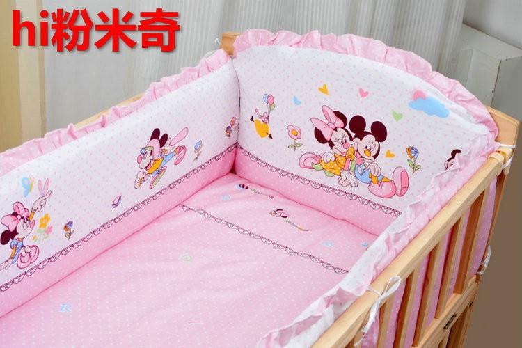 Фотография Promotion! 10PCS Mickey Mouse baby bedding set baby bed set crib bumper (bumper+matress+pillow+duvet)