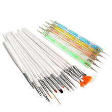 20 pcs un ensemble Nail Art Design Set Dotting peinture dessin polonaise Brush Pen outils Nail Art brosse(China (Mainland))