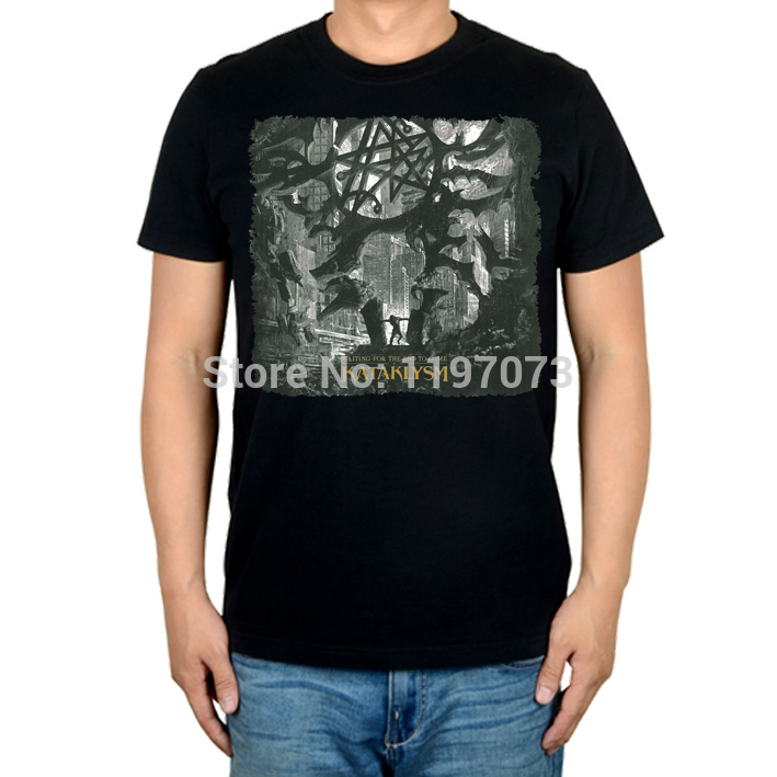Free shipping Kataklysm - Waiting For The End To Come cover death metal men's top black T-Shirt in summer(China (Mainland))