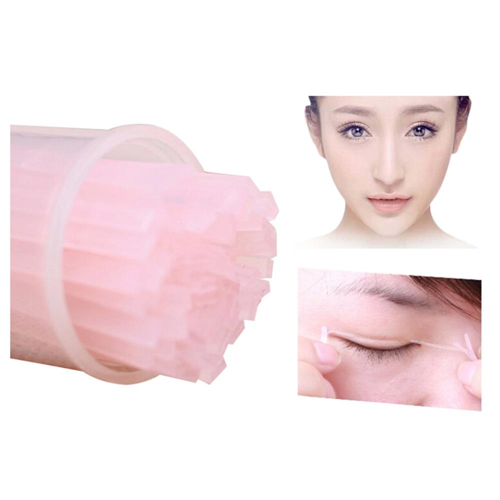 Гаджет  100pcs Super Invisible Double Eyelid Sticker Stretch Fiber Eyelid Fold Lift Adhesive Strips Wide/Narrow Double Sided Eyelid Tape None Красота и здоровье