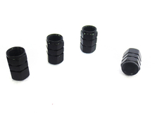 4 Pieces Tire Wheel Rims Stem Air Valve Caps Tyre Cover Car Truck Bike ALUMINUM Black(China (Mainland))