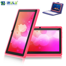 IRULU Android4.4 Tablet PC  7″1024*600HD Allwinner A33 Quad Core 16GB ROM External 3G/WIFI With Blue Keyboard  Blue Tablet