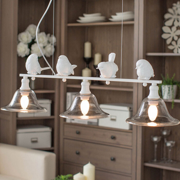Modern Simple Fashion Nordic Style Lamps Living Room Lights Dining Room Bird Rustic Pendant Light Personalize Lighting(China (Mainland))
