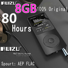 100% Original RUIZU X02  MP3 Player  With 1.8 Inch Screen Can Play 100 hours, 8gb With FM,E-Book,Clock,Data (China (Mainland))