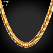 U7 Gold Necklace Stamp '18K' Real Gold Plated Stainless Steel Men Jewelry Wholesale Trendy 5 MM 55 CM Snake Chain Necklace N336(China (Mainland))