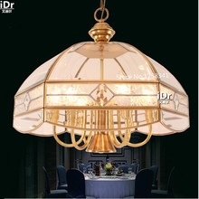 American Continental restaurant lights all copper glass art parquet classical copper lamps light meal Chandeliers  Rmy-0531(China (Mainland))