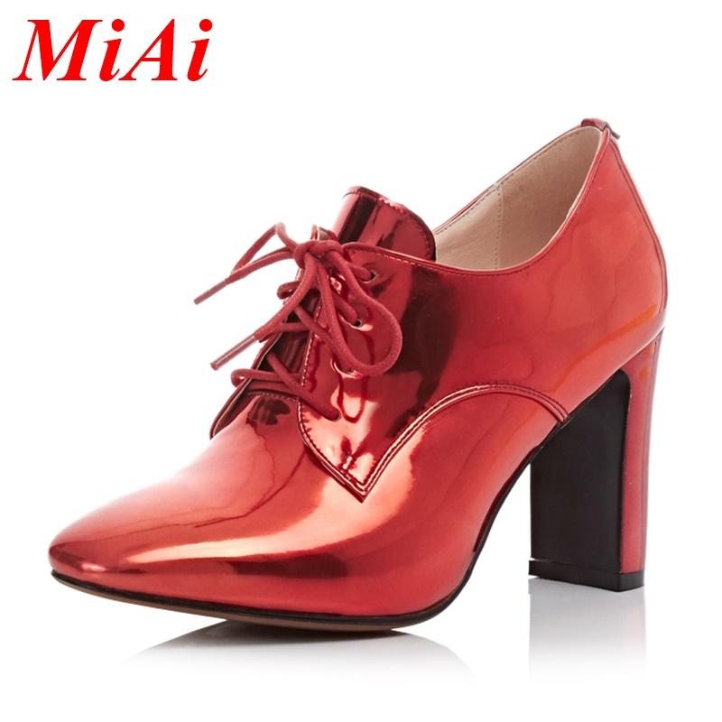 women pumps 2016 new fashion spring autumn shoes woman pumps sexy high heels square toe lace-up rhinestone party casual shoes