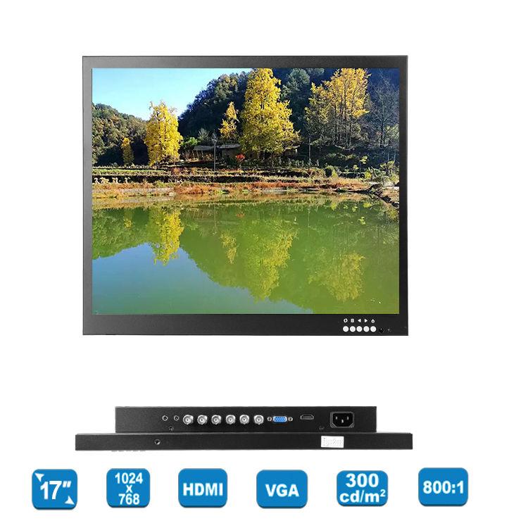 "Free shipping!Eyoyo 17"" TFT LCD HD 1024*768 Video AV Monitor HDMI VGA BNC for TV PC DVD Gaming"