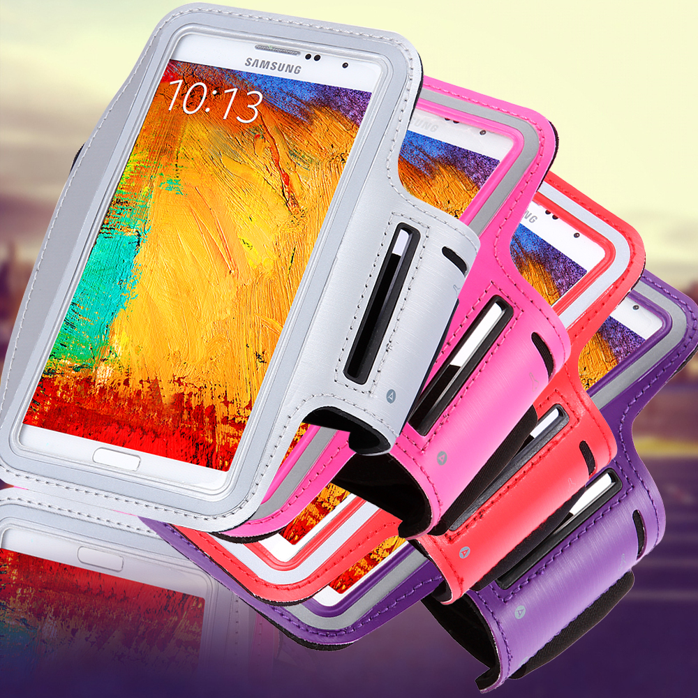 HOT Waterproof Genernal Style PU Leather Case For Samsung Galaxy Note 1 2 3 4 N9100 Running Arm Band For Note4 Cell Phone Cases(China (Mainland))