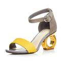 2016 summer Korean tide word buckle coarse toe Sexy Heels female Rome cool shoes sex women