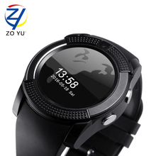 ZOYU V8 Smart Watch phone SIM TF Card Slot Bluetooth Connectivity for Android IOS Mobile Phone MTK6261 Mp3 Mp4 watch cell phone(China (Mainland))