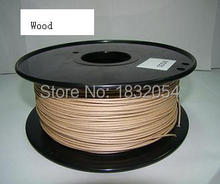 Free shipping wood color 3d printer filaments Wood 1.75mm/3mm 0.8kg plastic Rubber Consumables Material