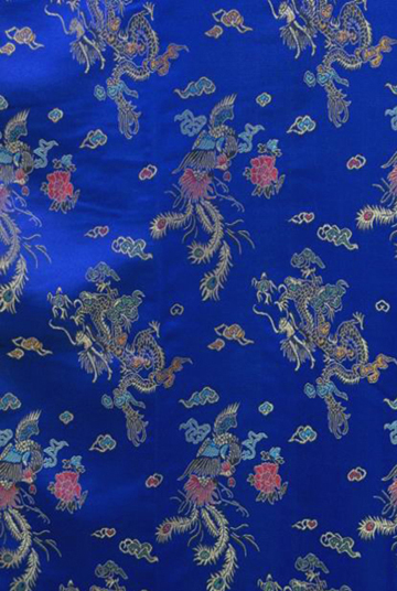 синий китайского мужского кимоно атласная платье