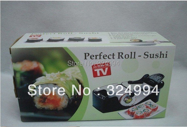 Free shipping Easy Sushi maker Magic Cutter Roller Rice Mold By Yourself As seen on TV Roll-Sushi with color box