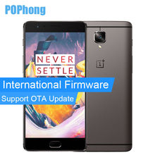 International Firmware Oneplus 3T A3010 Snapdragon 821 Mobile Phone 6GB RAM Quad Core 64GB Dual SIM 5.5 inch Oxygen OS 3400mAh - Shenzhen Pophong Store store