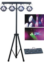Discount Led Stage Light 4pcs 3x15W 5in1 RGBWA Professional Flat Par Kit DJ Laser Projector Iluminacion Signal Disco Lighting(China (Mainland))